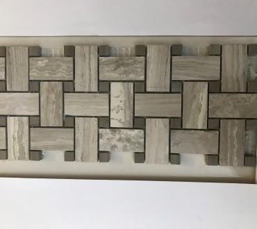 MB079G-P Whitewood Basketweave Mosaic