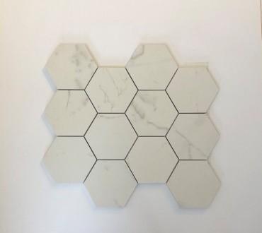 "Mosaic Camp. Versilia Pure 4"" Hexagon Matte"