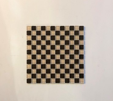 Mosaic Glass Botticino Checker