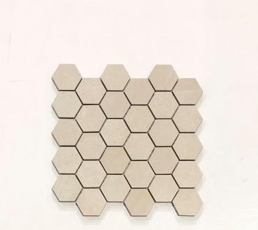 Mosaic Stone Beige Hexagon