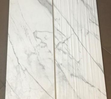 "Purity Statuario Lux & Purity Statuario  Wall ""STR Fluid"" Glossy"