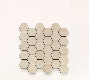 Stone Collection Beige Mosaic Hexagon