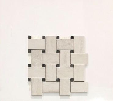 Travertino Momento Intreccio Bianco LP Mosaic