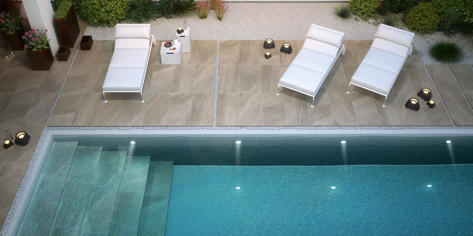 Outdoor tiles trini tile for Carrelage interieur piscine